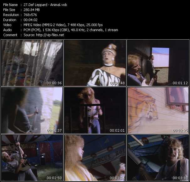 Def Leppard HQ Videoclip «Animal»