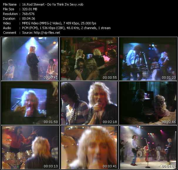 Rod Stewart video - Do Ya Think I'm Sexy