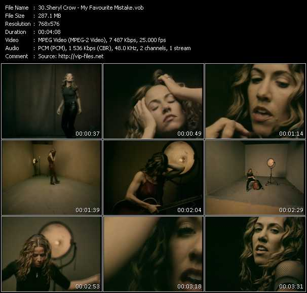 Sheryl Crow HQ Videoclip «My Favourite Mistake»