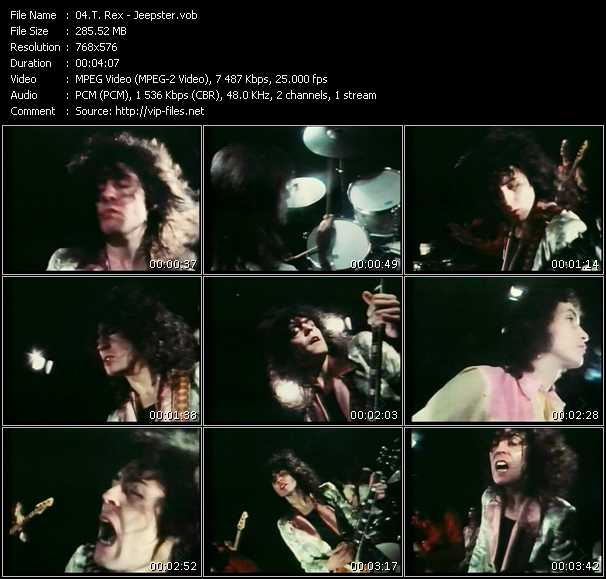 T. Rex video - Jeepster