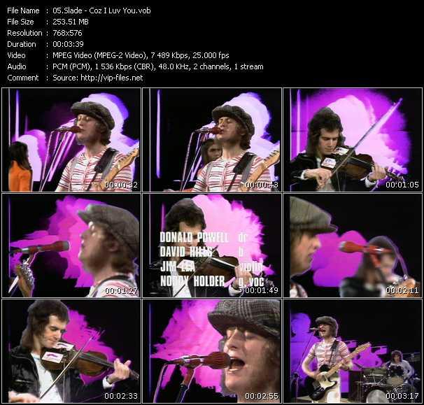 Slade HQ Videoclip «Coz I Luv You»