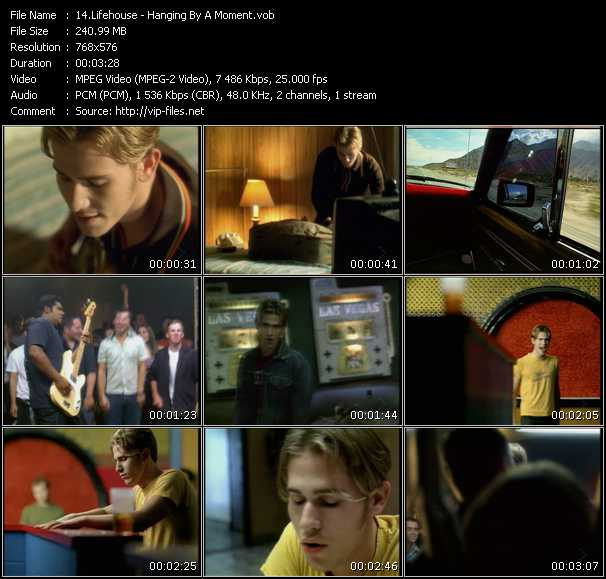 Lifehouse HQ Videoclip «Hanging By A Moment»