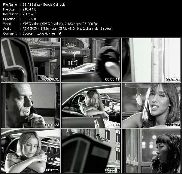 All Saints HQ Videoclip «Bootie Call»