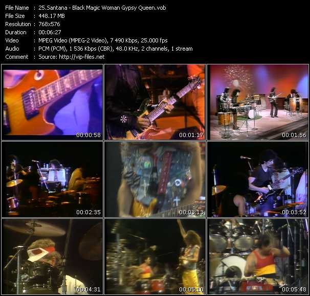 Santana HQ Videoclip «Black Magic Woman - Gypsy Queen»