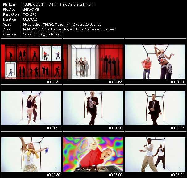 Elvis Vs. JXL HQ Videoclip «A Little Less Conversation»