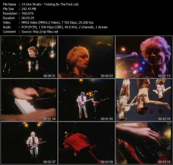 Dire Straits HQ Videoclip «Twisting By The Pool»