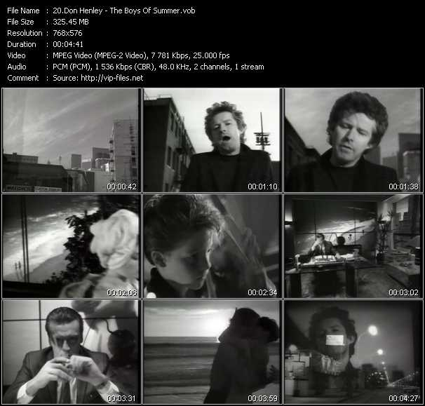 Don Henley HQ Videoclip «The Boys Of Summer»