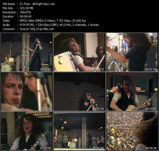 Free HQ Videoclip «All Right Now»