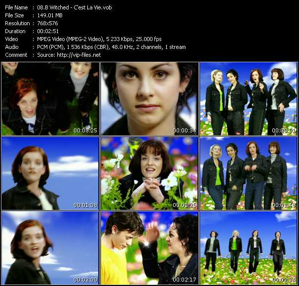 B-Witched video - C'est La Vie