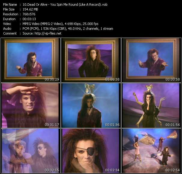 Dead Or Alive HQ Videoclip «You Spin Me Round (Like A Record)»