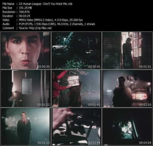 Human League HQ Videoclip «Don't You Want Me»