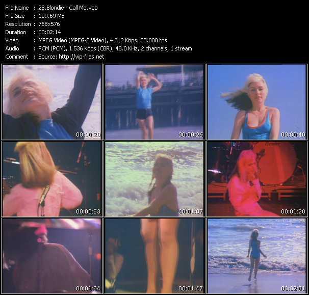 Blondie HQ Videoclip «Call Me»