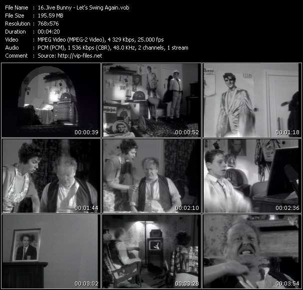 Jive Bunny And The Mastermixers HQ Videoclip «Let's Swing Again»