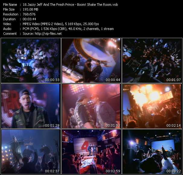Dj Jazzy Jeff And The Fresh Prince HQ Videoclip «Boom! Shake The Room»