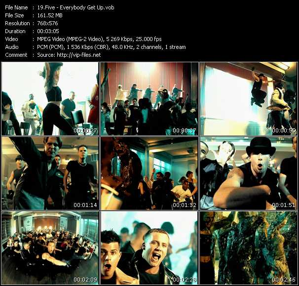 Five HQ Videoclip «Everybody Get Up»