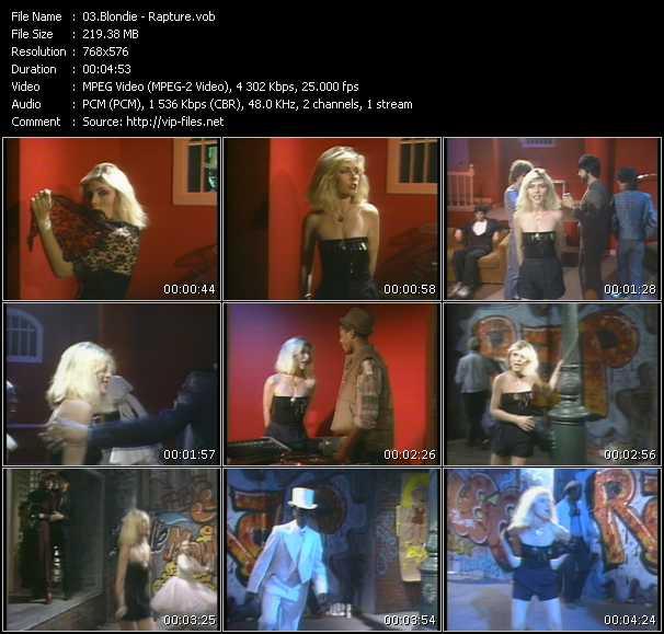 Blondie HQ Videoclip «Rapture»