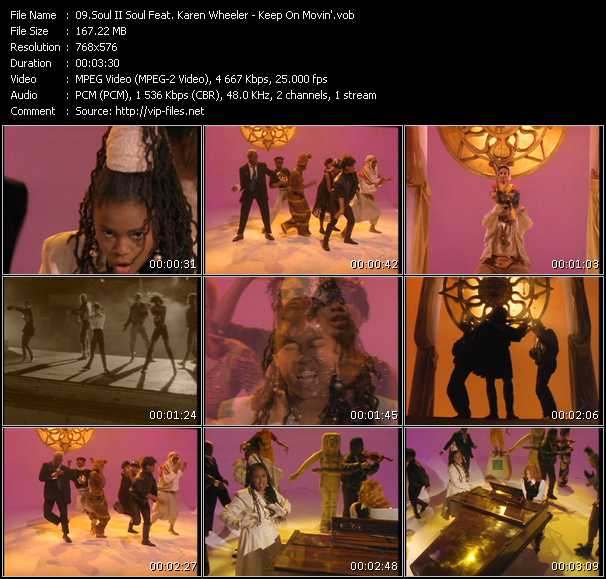 Soul II Soul Feat. Caron Wheeler HQ Videoclip «Keep On Movin'»