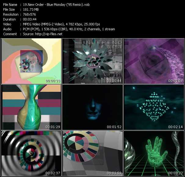 New Order HQ Videoclip «Blue Monday ('95 Remix)»