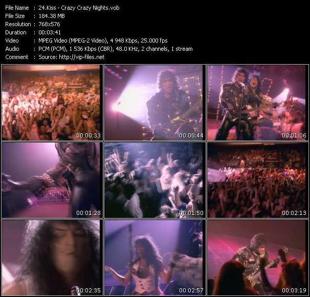 Kiss HQ Videoclip «Crazy Crazy Nights»