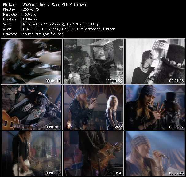 Guns N' Roses HQ Videoclip «Sweet Child O' Mine»