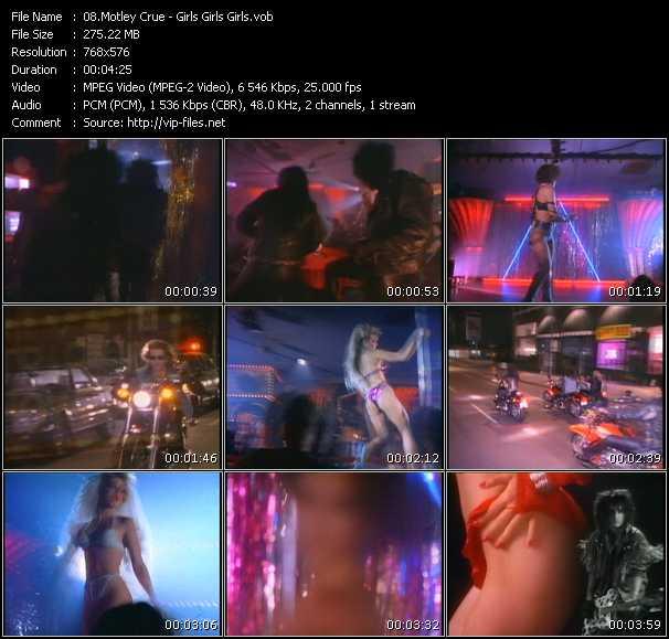 Motley Crue video - Girls, Girls, Girls
