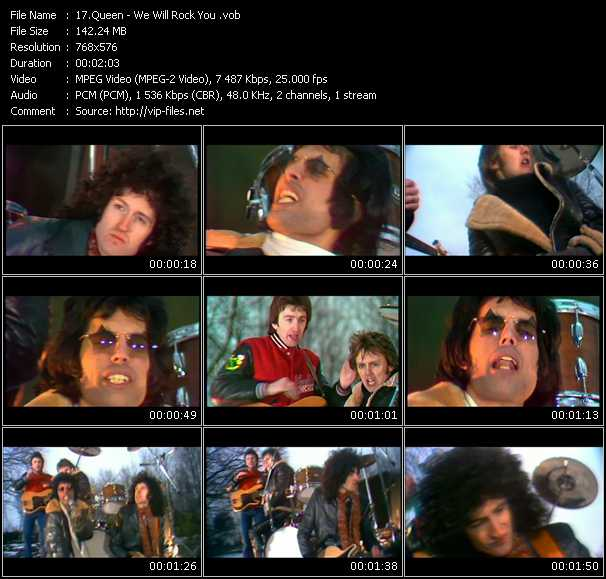 Queen video - We Will Rock You