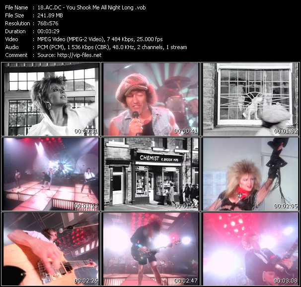 Ac-Dc video - You Shook Me All Night Long