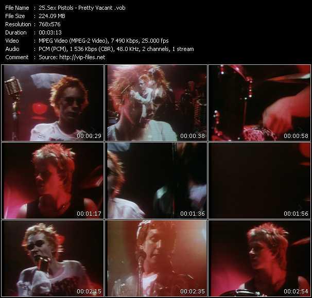 Sex Pistols HQ Videoclip «Pretty Vacant»
