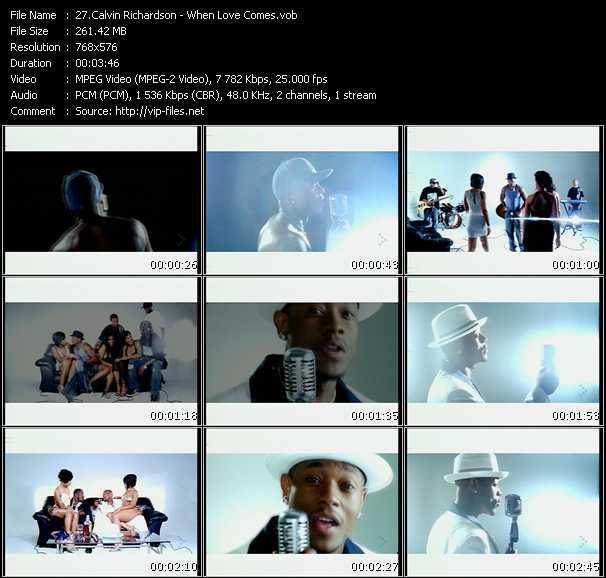 Calvin Richardson HQ Videoclip «When Love Comes»