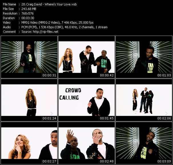Craig David HQ Videoclip «Where's Your Love?»