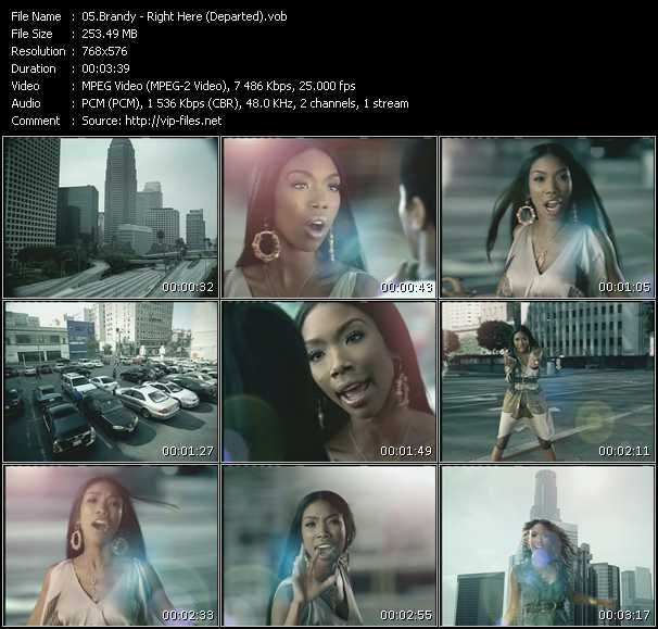 Brandy HQ Videoclip «Right Here (Departed)»