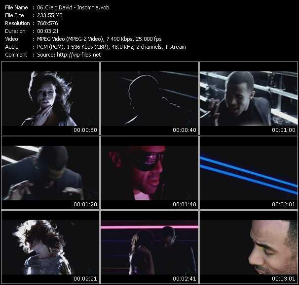 Craig David HQ Videoclip «Insomnia»
