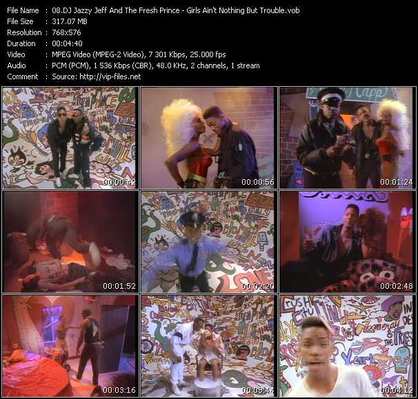 Dj Jazzy Jeff And The Fresh Prince HQ Videoclip «Girls Ain't Nothing But Trouble»