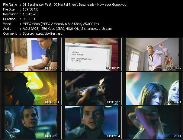 Basshunter Feat. Dj Mental Theo's Bazzheadz HQ Videoclip «Now You're Gone»