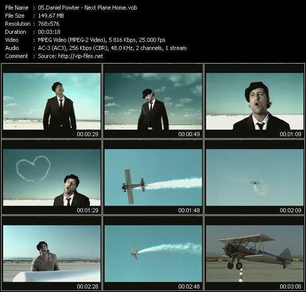Daniel Powter HQ Videoclip «Next Plane Home»