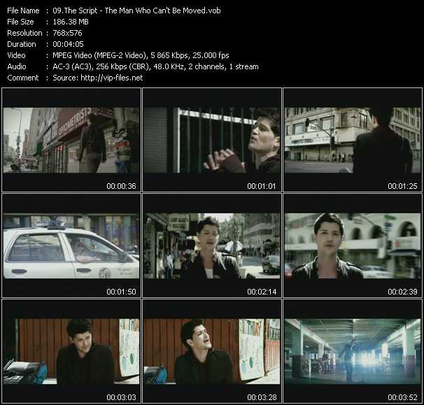 Script HQ Videoclip «The Man Who Can't Be Moved»