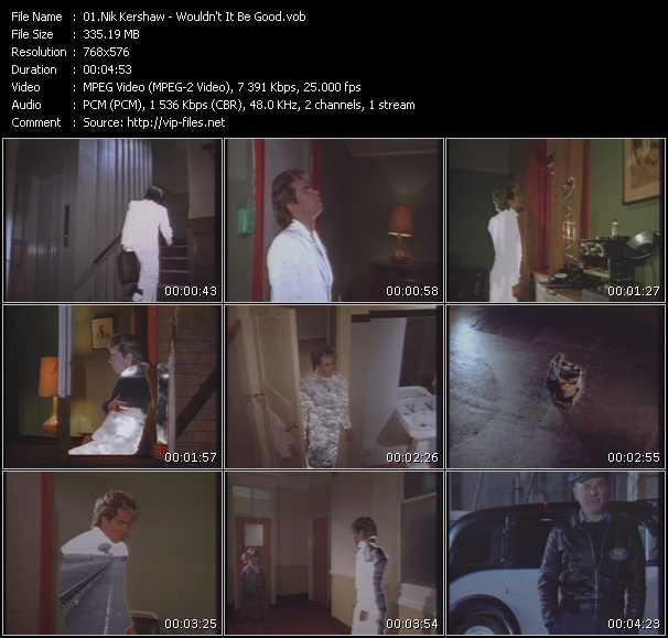 Nik Kershaw HQ Videoclip «Wouldn't It Be Good»