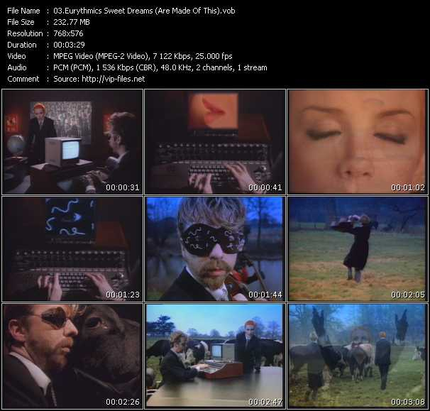 Eurythmics HQ Videoclip «Sweet Dreams (Are Made Of This)»