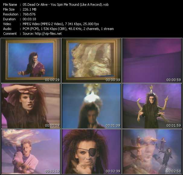 Dead Or Alive HQ Videoclip «You Spin Me 'Round (Like A Record)»