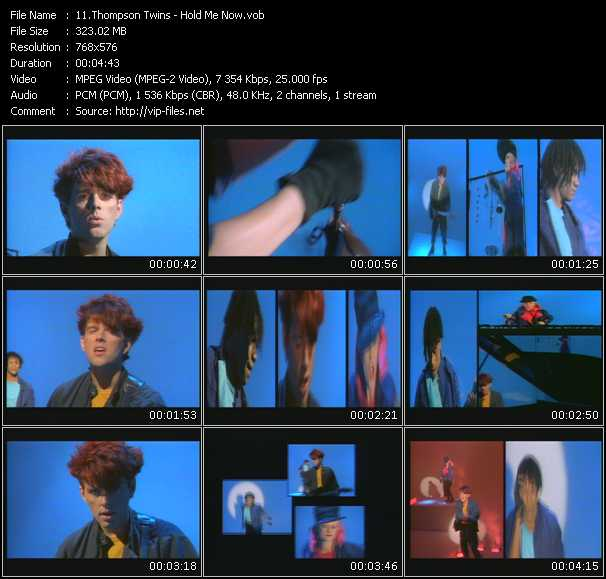 Thompson Twins HQ Videoclip «Hold Me Now»