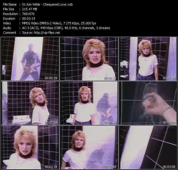 Kim Wilde HQ Videoclip «Chequered Love»