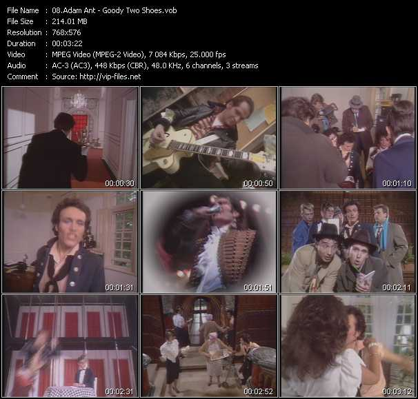 Adam Ant HQ Videoclip «Goody Two Shoes»