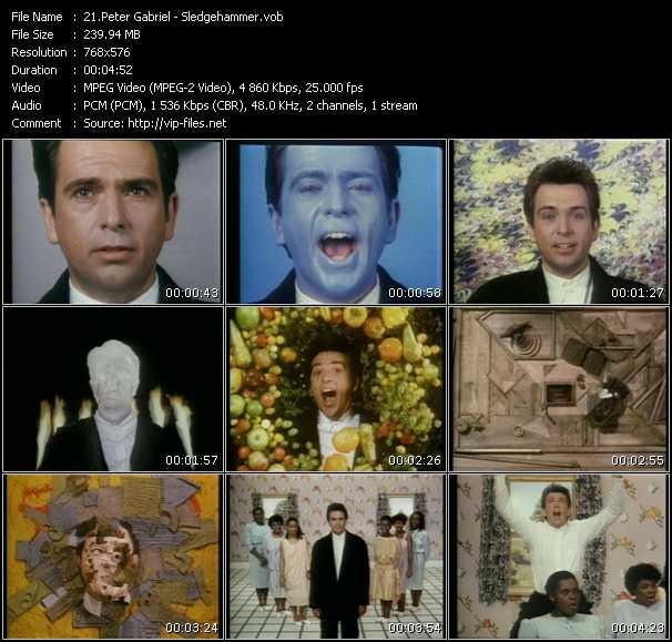 Peter Gabriel HQ Videoclip «Sledgehammer»