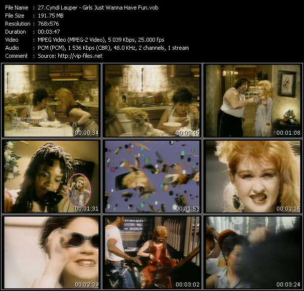Cyndi Lauper video - Girls Just Wanna Have Fun