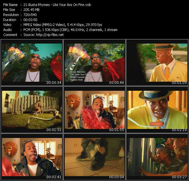Busta Rhymes HQ Videoclip «Lite Your Ass On Fire»
