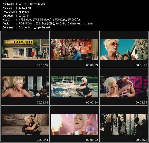 Pink HQ Videoclip «So What»