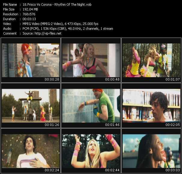 Frisco Vs. Corona HQ Videoclip «Rhythm Of The Night»