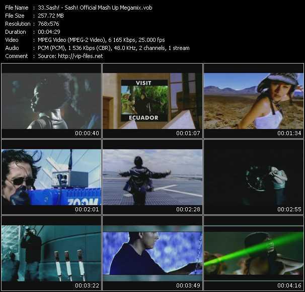 Sash! HQ Videoclip «Sash! Official Mash Up Megamix»