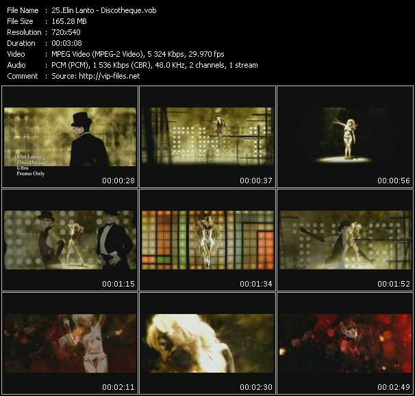Elin Lanto HQ Videoclip «Discotheque»