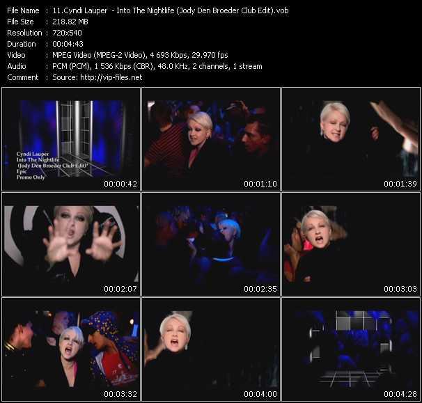 Cyndi Lauper video - Into The Nightlife (Jody Den Broeder Club Edit)